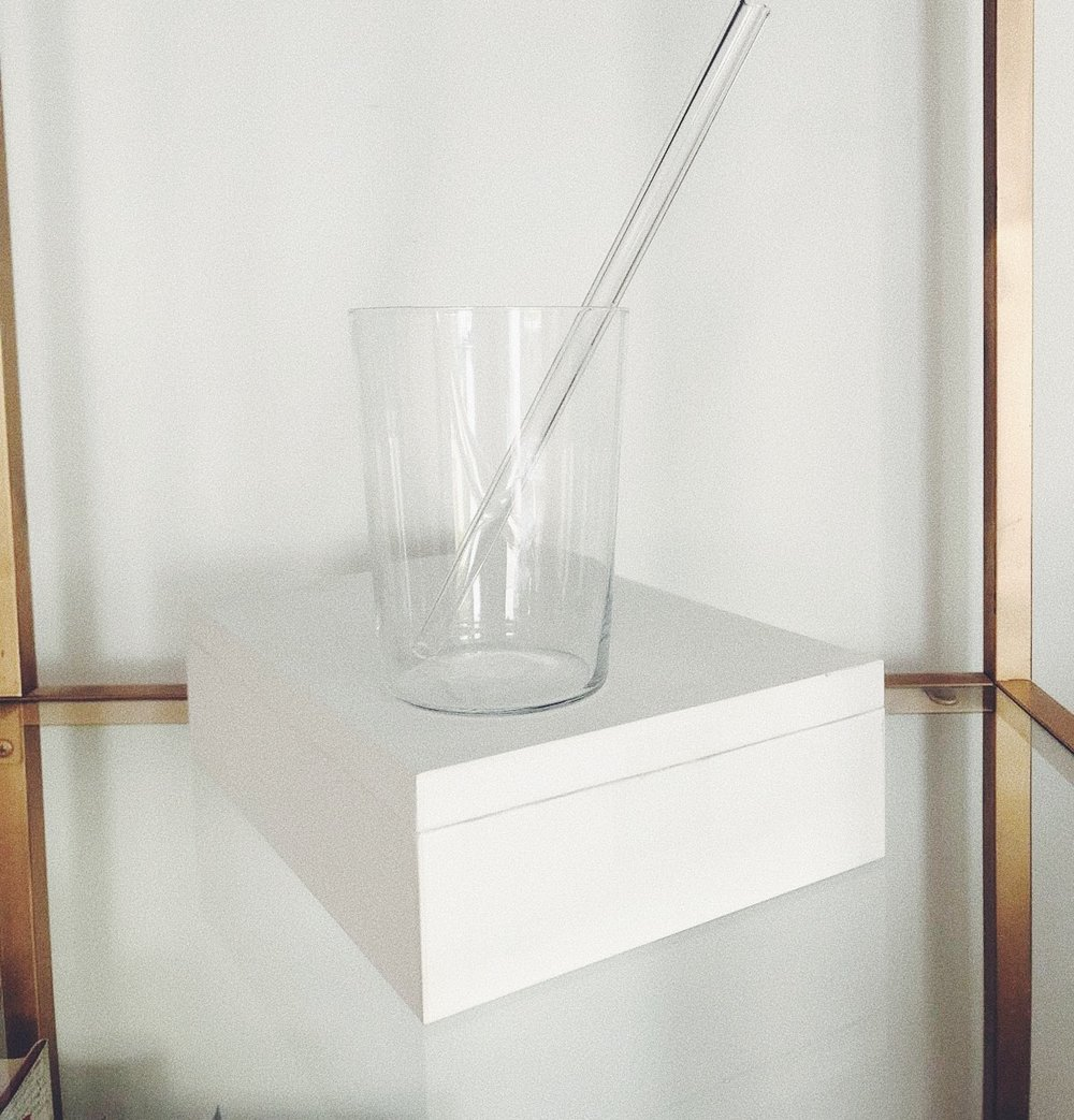 I GO HAAAARD AGAINST PLASTIC STRAWS! I ONLY USE PAPER OR AN EVEN MORE SUSTAINABLE   VERSION IN GLASS  . I PREFER THM OVER METAL, JUST BECAUSE I CAN SEE IF THERE'S ANY DIRT OR GREASE IN THERE.  - J