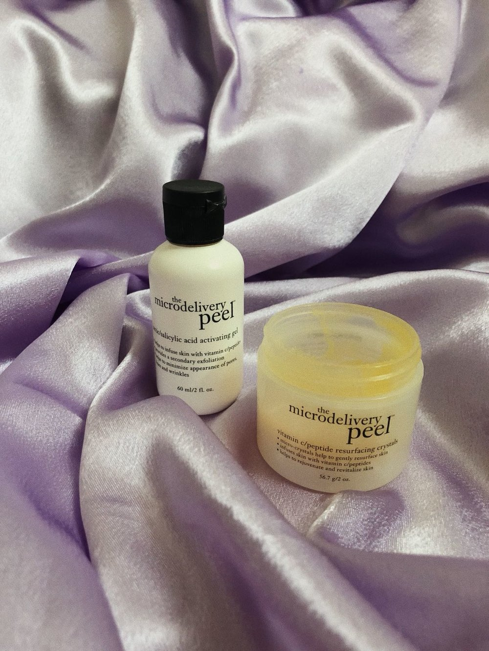 I GET SUPER DRY AND BAD SKIN VERY OFTEN THAT LOOKS EVEN FLAKY AT TIMES. SO I READ RAVING REVIEWS ABOUT THIS ONE: A TWO-STEP, IN-HOME PEEL THAT RESURFACES AND REJUVINATES SUN-DAMAGED, HYPERPIGMENTED AND AGING SKIN - THE   MIRCRODELIVERY PEEL   BY PHILOSOPHY. FIRST I WAS SO HESITANT AND CAREFUL TO TRY BUT THERE IS NOTHING YOU CAN DO WRONG. TAKE A TIMER WITH YOU IN THE BATHROOM AND YOU ARE FINE. -T