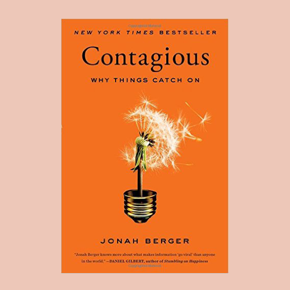 I ACUTALLY HAVE THIS BOOK AT HOME FOR A WHILE, I JUST HAVEN'T READ IT YET. AS A CONTENT CREATOR, I FIND BOOKS LIKE THIS EXTREMELY MOTIVATIONAL AND HELPFUL.   'CONTAGIOUS' BY JONAH BERGER   IS ABOUT WHY THINGS ACTUALLY BECOME POPULAR AND WHY THEY 'CATCH ON' - WHICH IS THE GOAL WITH THESE GIRLS, SO I HOPE THIS WILL HELP ME A LOT. - J