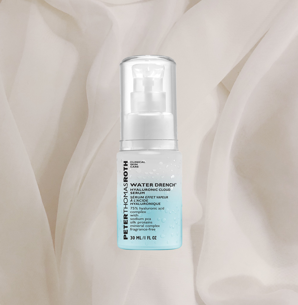 I USE A SERUM DAY AND NIGHT AND THE   WATER DRENCH BY PETER THOMAS ROTH   IS ONE THAT I REALLY LIKE FOR WINTER. I LOVE TO LAYER ON SKINCARE AND THIS ONE IS PERFECT FOR THAT! THE SERUM IS LIGHTWEIGHT BUT SERIOUSLY PLUMPS UP YOUR SKIN AND GIVES IT THE HYDRATION WITHOUT BREAKING ME OUT OR ANYTHING. I KNOW IT'S A BIT MORE EXPENSIVE BUT SO WORTH IT! ALSO - EVERYTHING WITH HYALURONIC ACID IN IT IS JUST THE THING IN WINTER! - J