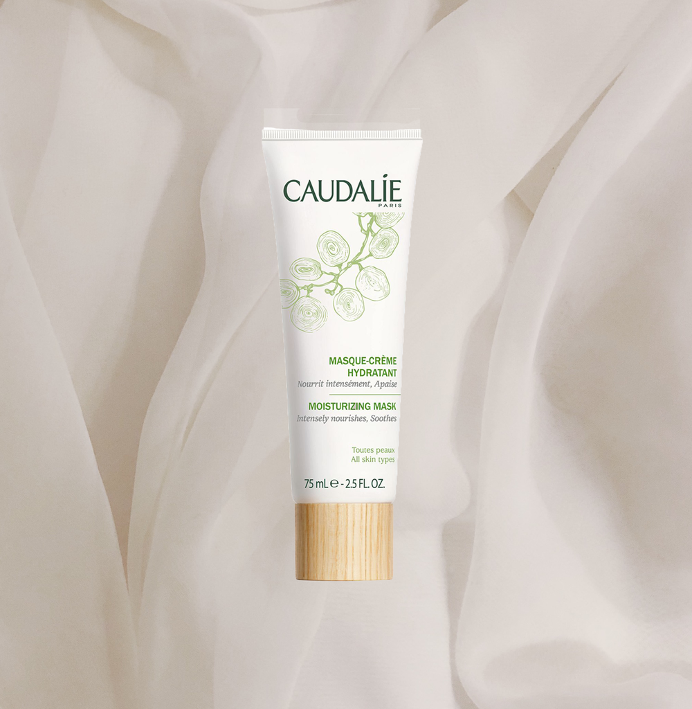 WE BOTH LOVE CAUDALIE AND RECENTLY I HAVE BEEN OBSESSED WITH THEIR   MOISTURIZING MASK  - IT LITERALLY MAKES MY SKIN FEEL BRAND NEW WHEN IT'S JUST ROUGH AND DRY SO IT REALLY HAS BECOME MY ABSOLUTE FAVOURITE FOR SELF CARE, NOT JUST SUNDAY BUT ANY DAY BECAUSE IT TRULY RESCUES MY SKIN EVERY TIME I PUT IT ON AND JUST FEELS SO SO GOOD AND SOOTHING. T