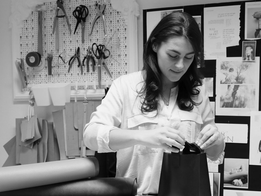ANNA ENGELHARDT, HANDBAG DESIGNER WITH HER OWN LABEL   ANNA JUST DID WHAT MANY OF US DREAM OF: LAUNCHING HER OWN ACCESSORIES LABEL BY THE TIME SHE WAS 28. HERE SE BREAKS IT DOWN WHAT IT TOOK.