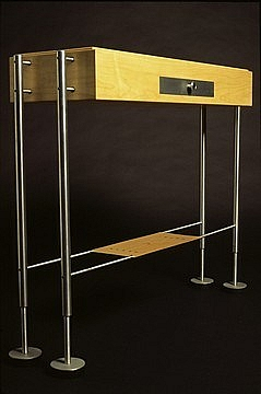Hallway Table: maple & aluminium