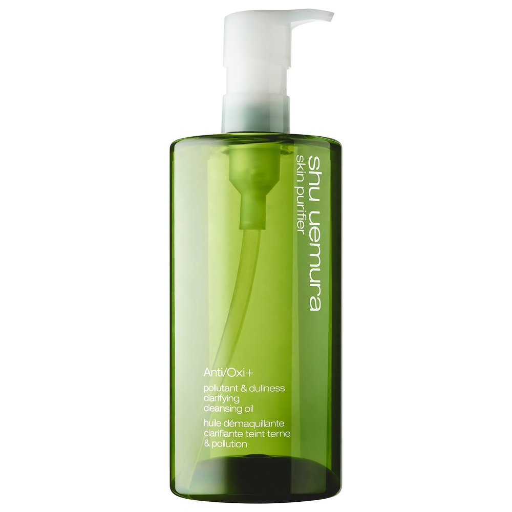 SHU UEMURA ANTIOXIDANT CLEANSING OIL - Anti/Oxi+ is a cleansing oil with enhanced power to remove micro impurities and stubborn makeup with no residue. Anti/Oxi+ cleansing oil relies on 3 green trio, which contains green tea extract anti-oxidation, moringa extract known to remove pollutants, and papaya extract known to polish away protein stains. shu uemura's latest anti-pollution breakthrough, Anti/Oxi+ with moringa and green tea extracts are combined for a more powerful removability. Anti/Oxi+ is balanced to provide a sensation that is refreshing and relaxing by awakening your senses at first touch with a top note of elemi, mandarin and ginger.1. take 3-4 pumps of cleansing oil onto the palms of hands.2. gently smooth over the face.3. wet face to emulsify cleansing oil.4. rinse thoroughly with water.