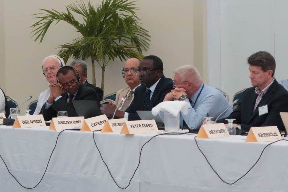 Premier Romoeo addressing United Nations Sustainable Development Seminar, convened in Grenada from May 9 to 11, 2018