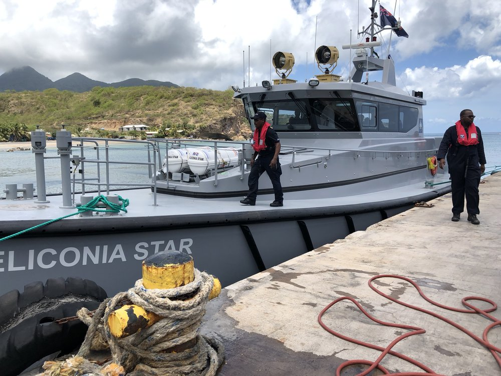 Marine Vessel MV Heliconia Star docks at Port Little Bay on Wednesday May 16, 2018