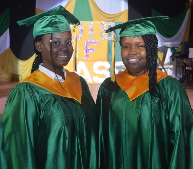 Montserrat Secondary School (MSS) Top Two Students   Photo Credit: Discovermni.com