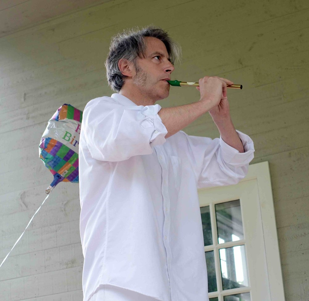 Jason Lambert performing episode one of  We Were Friends , a play inspired by the friendship between writer Ralph Waldo Emerson and activist Margaret Fuller.