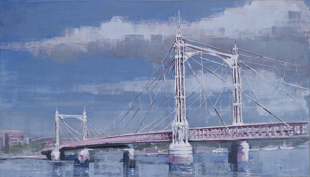 Albert Bridge in blue - sold