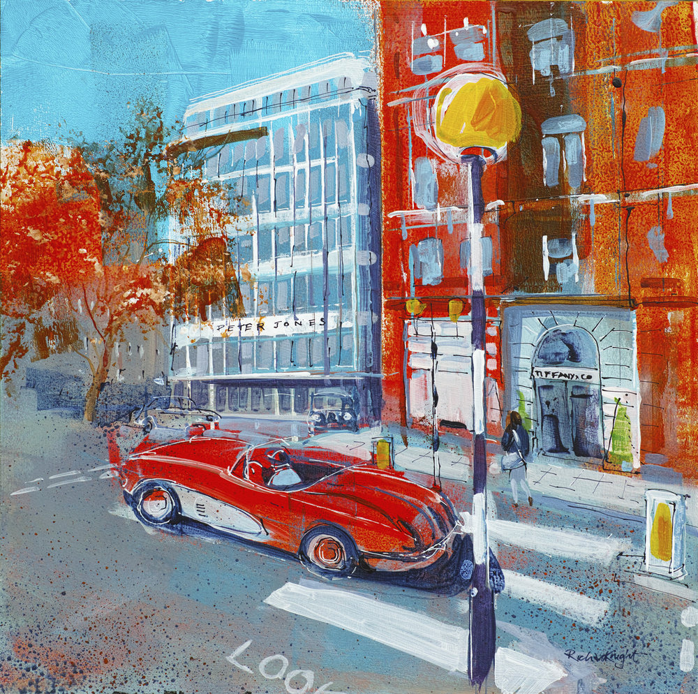Red Corvette in Sloane Square - £420.00