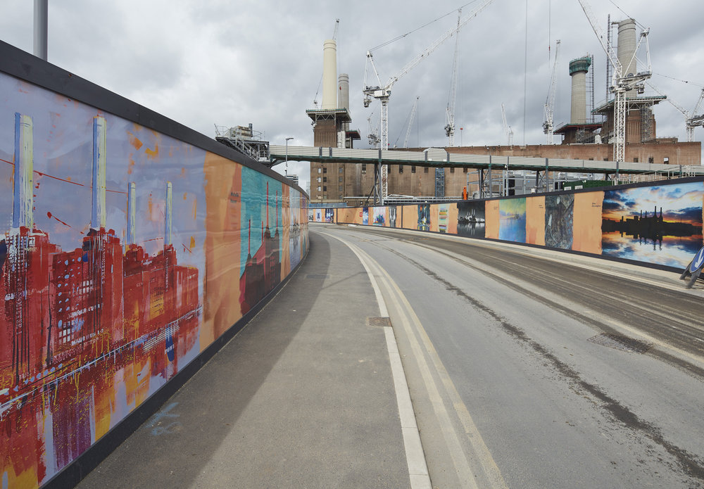 Battersea Development:  Not only did the Battersea Development company buy one of my paintings of the power station, they've used it on billboards outside the redevelopment and it now hangs in one of the meeting rooms.