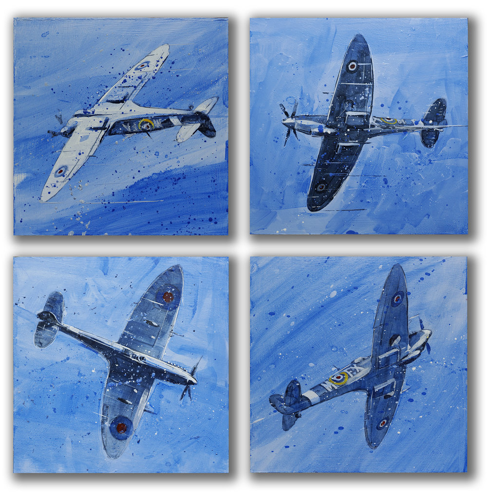 Spitfire Routine, set of four, sold