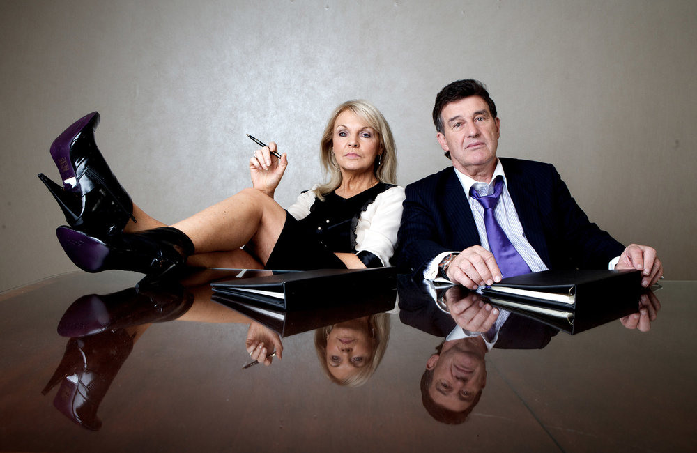 Jackie Lavin & Bill Cullen for Irish Daily Mail