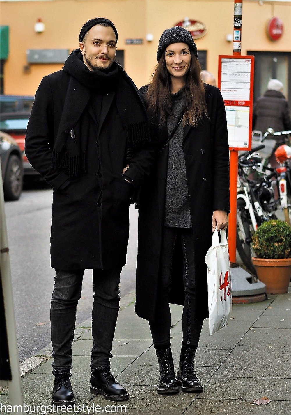 Streetstyle stylish couple