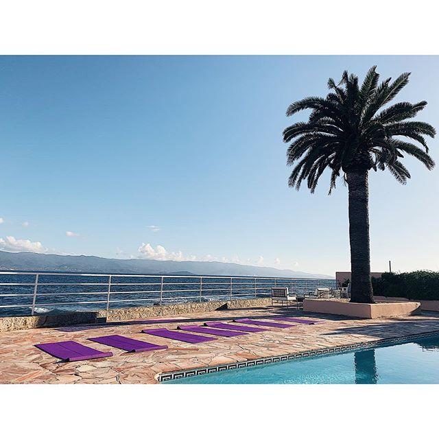 Notre week end DETOX a l'hôtel @lesmouettesajaccio 🍃🍃🍃#yogaretreat#yogadetox#yogacorsica