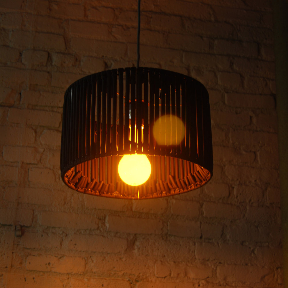 BODY LANGUAGE SHOP x LIGHTS UP   Modified Pendant Shades - steel frames and cord kits by  LIGHTS UP , March 2019