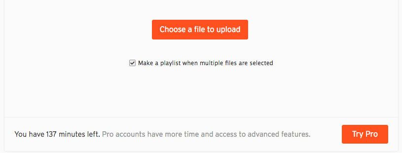 SoundCloud does not limit how much you upload each month, they limit total uploads. for your podcast. For their free plan, they offer 3 hours of upload time. Period.