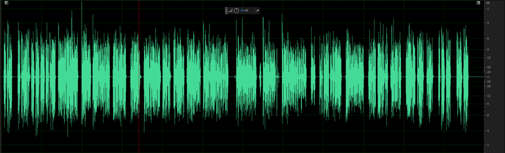 Some stray peaks in this file may call for a limiter.
