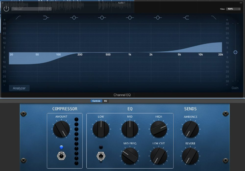 Apple's GarageBand has some powerful EQ tools for podcasters.