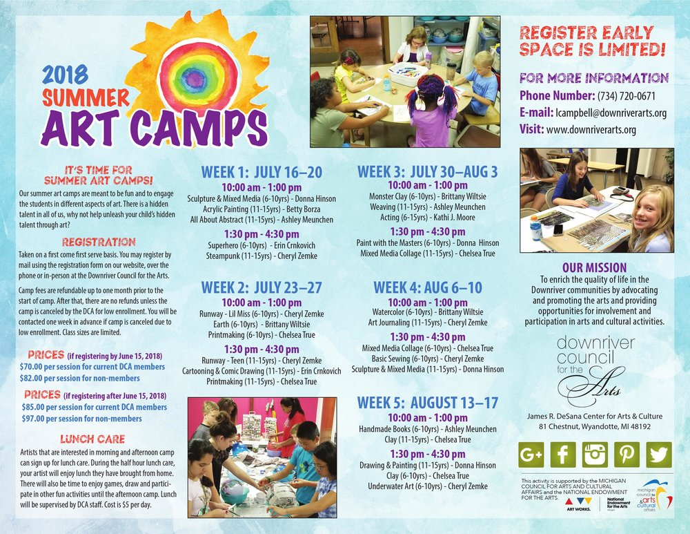 Download the 2018 Summer Art Camp by clicking on the image above.