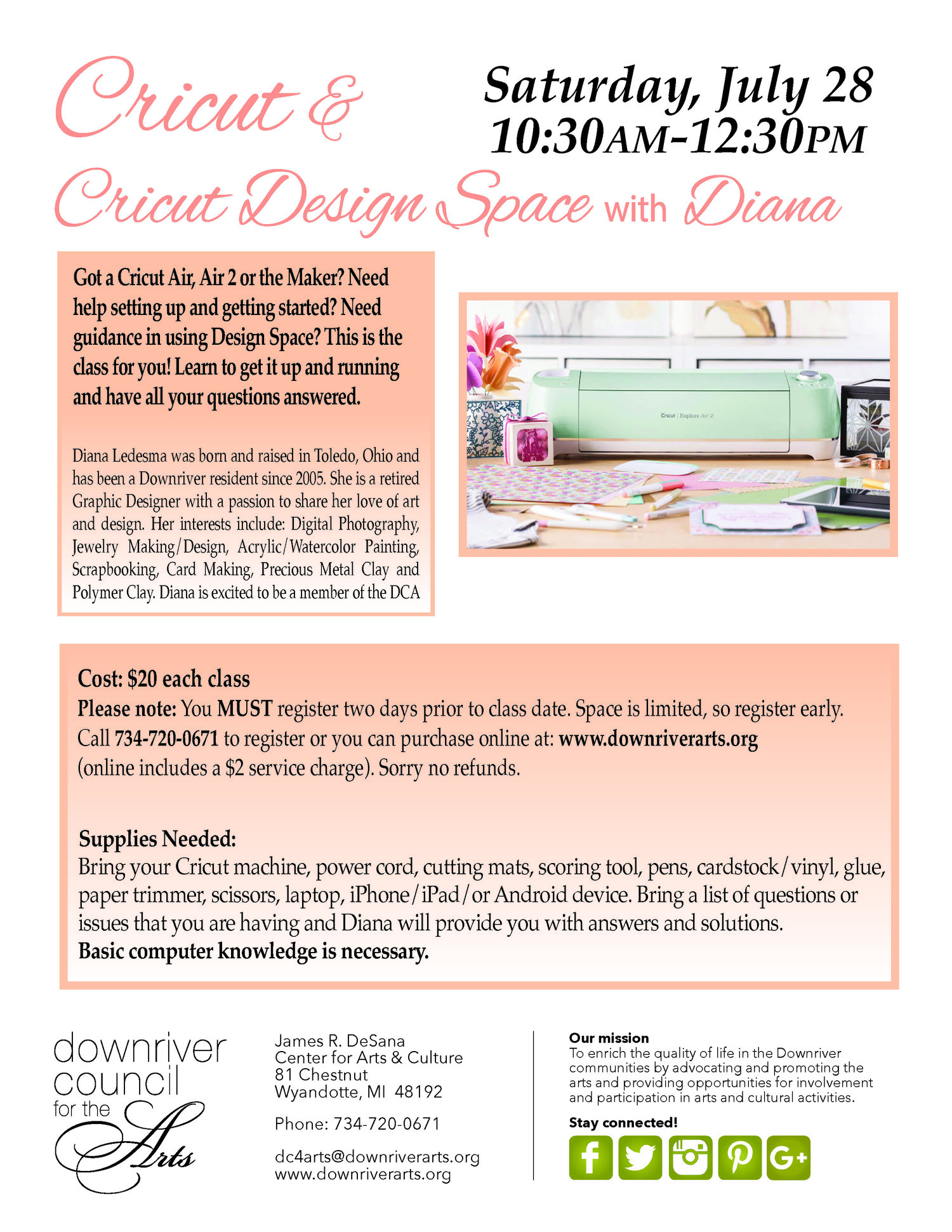 Cricut and Cricut Design Space with Diana - 7/28/18