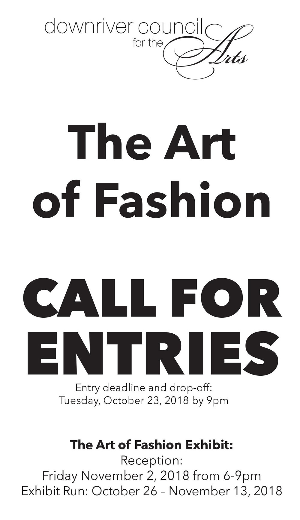 To enter, download the exhibit guidelines by clicking on the image above.