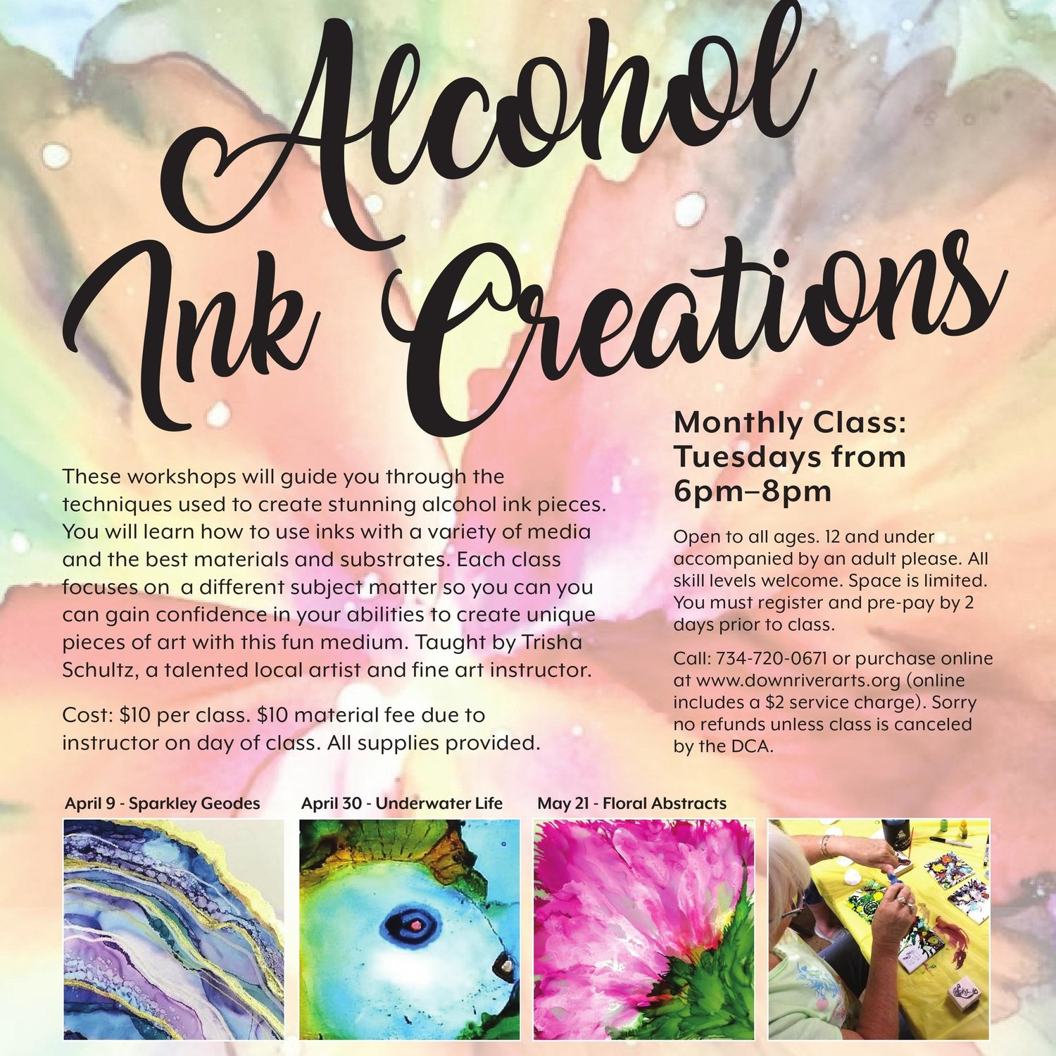 Alcohol Inks Creations — Downriver Council for the Arts
