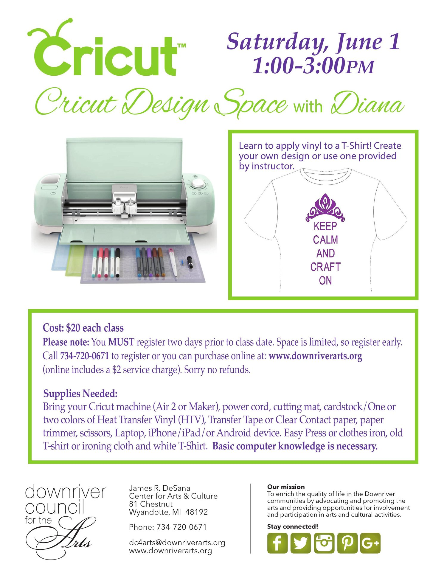 Cricut Design Space T-Shirt -06/01/19 — Downriver Council