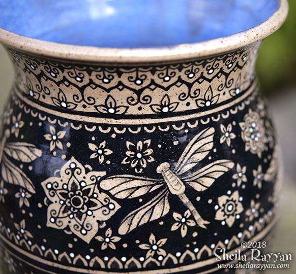 Dragonfly Vase (detail)