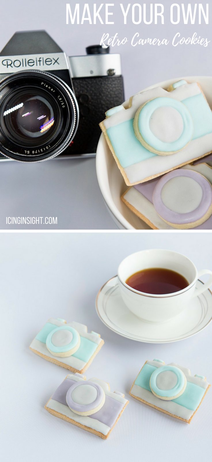 How To Make Cracking Retro Camera Cookies, easy cookie icing for beginners
