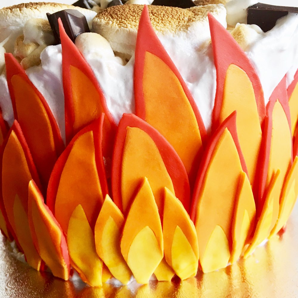 How to make fondant flames