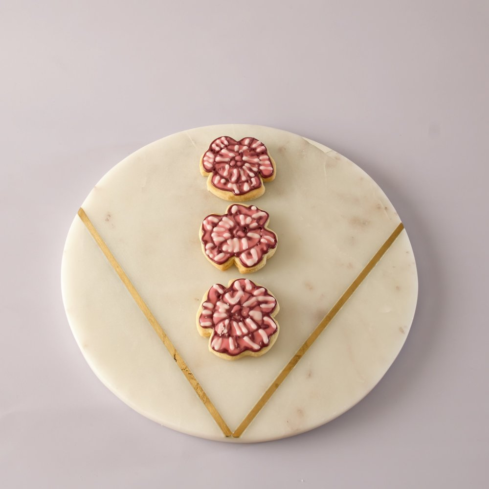 flower cookie pink
