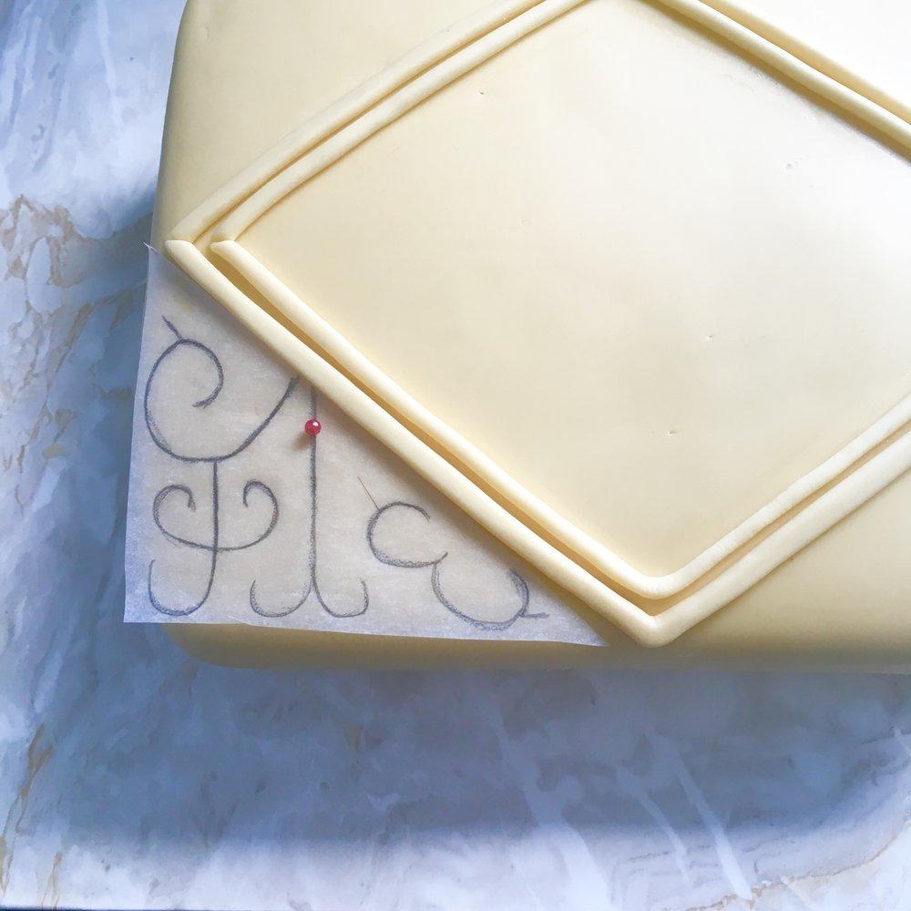 Giant custard cream cake