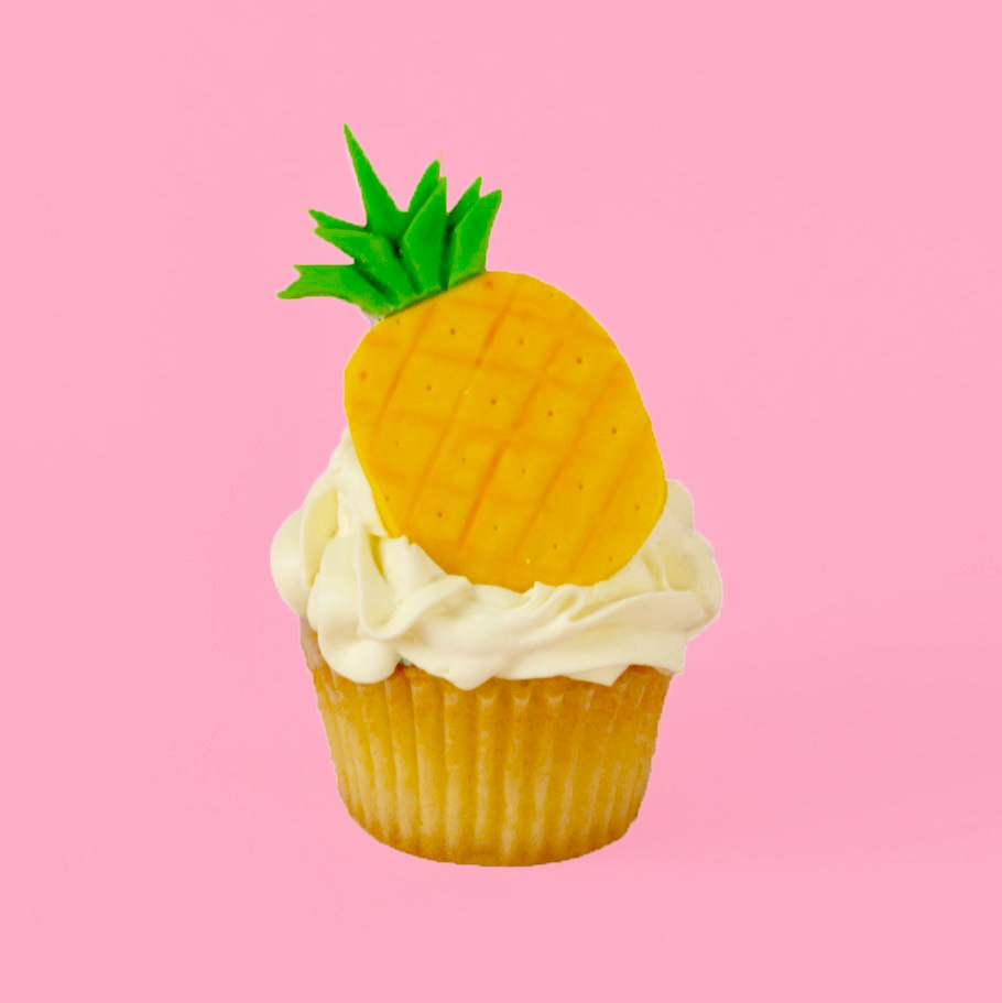 DIY Pineapple Cupcake Topper