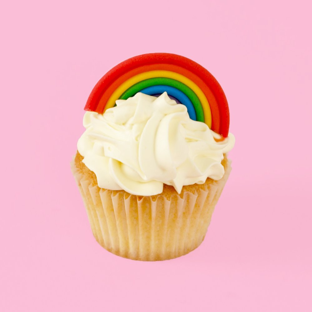DIY Rainbow Cupcake Topper
