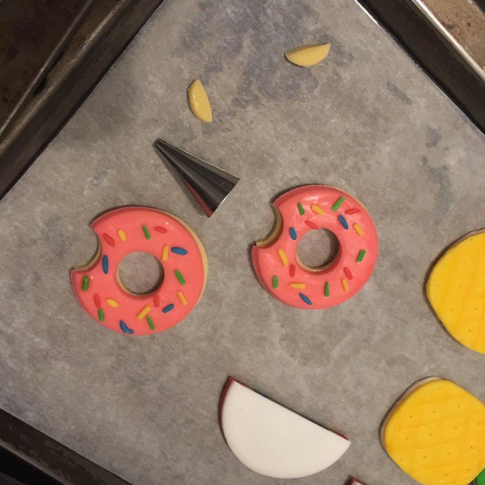DIY Sprinkle Donut Cupcake Toppers