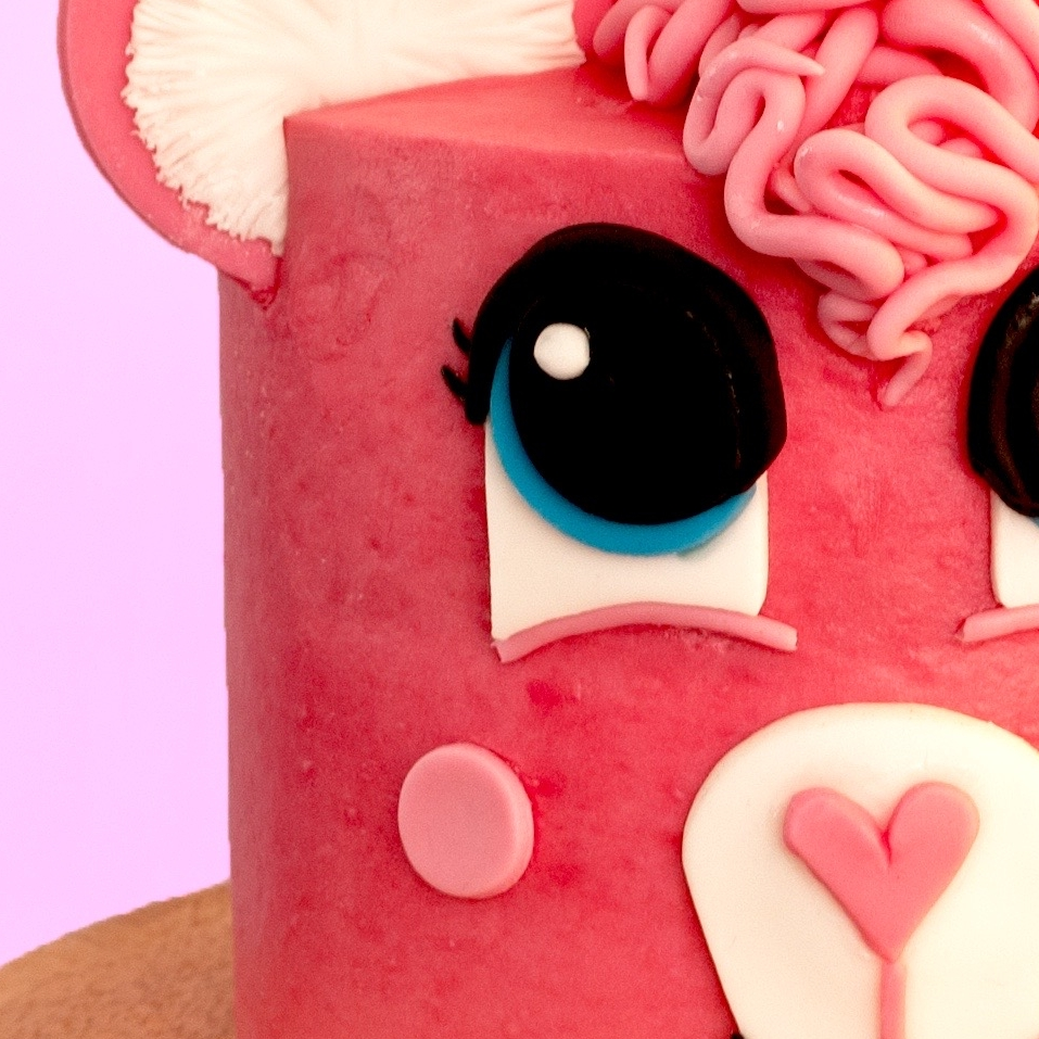 How To Make An Adorable Pink Bear Cake