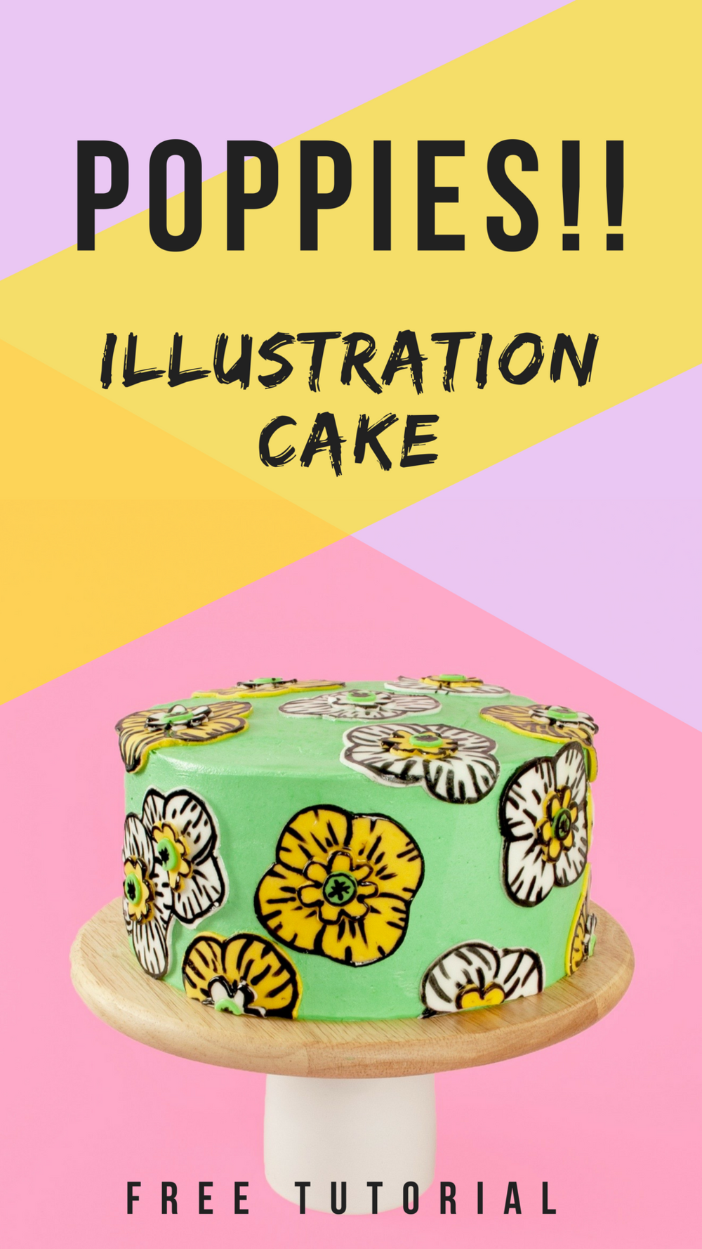 Insanely cute poppy cake tutorial