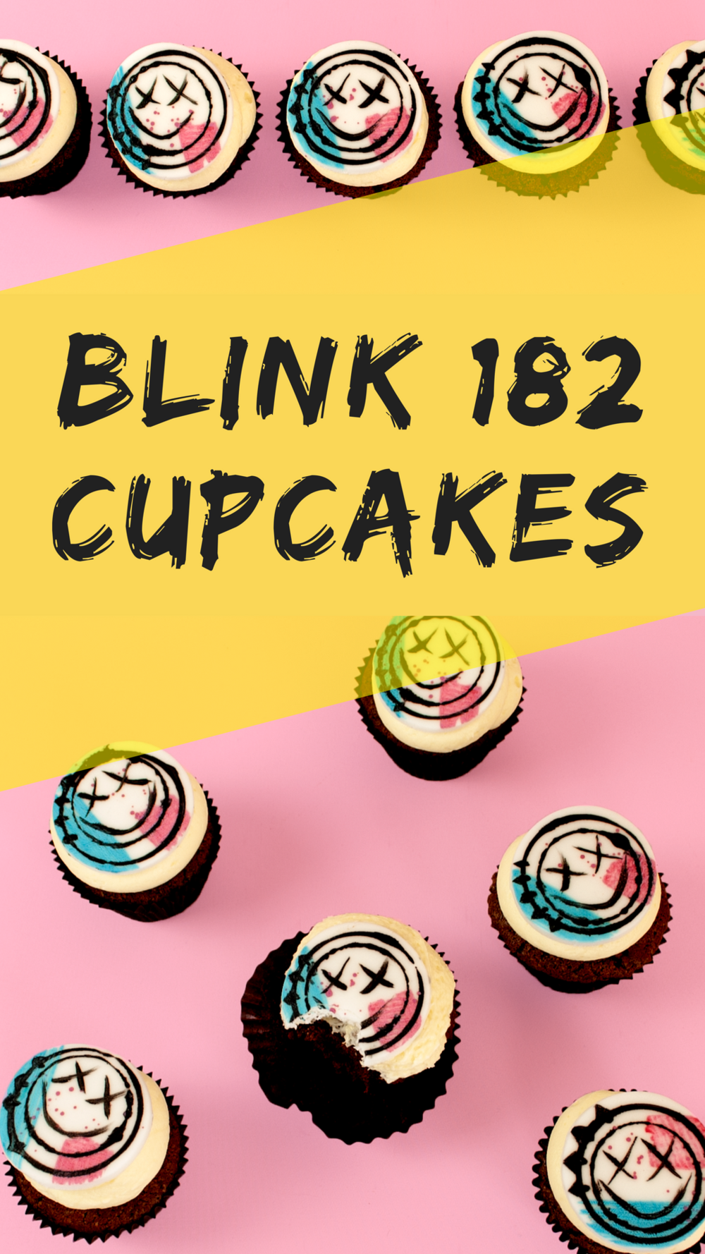 Freaking Awesome DIY Blink 182 Cupcakes