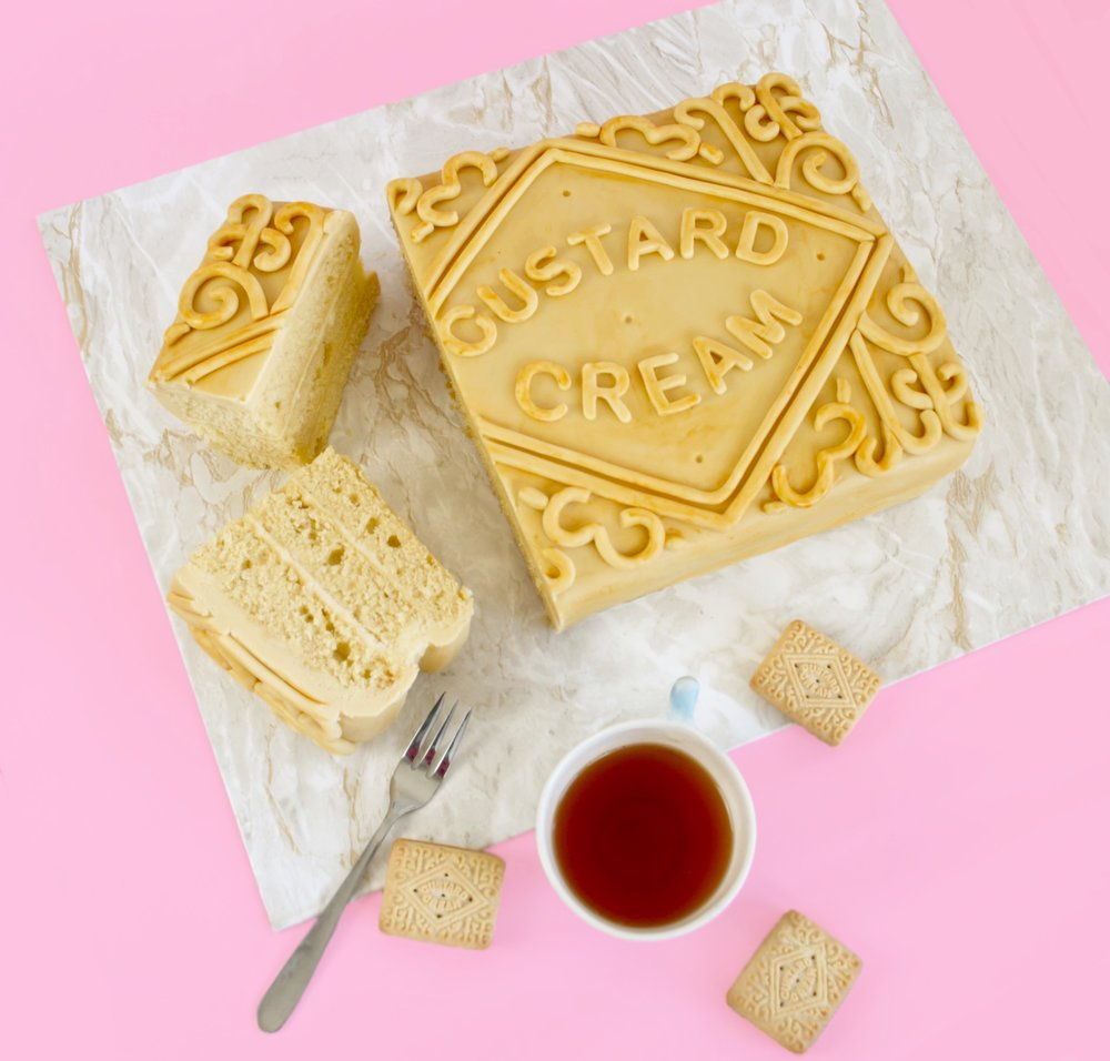 how to make a custard cream cake