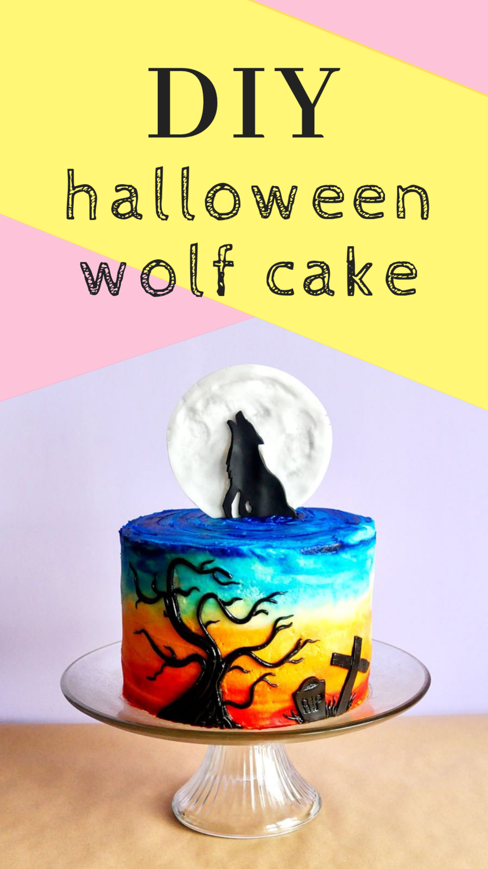 Creeptacular and cute-tastic halloween howling wolf cake (diy).png