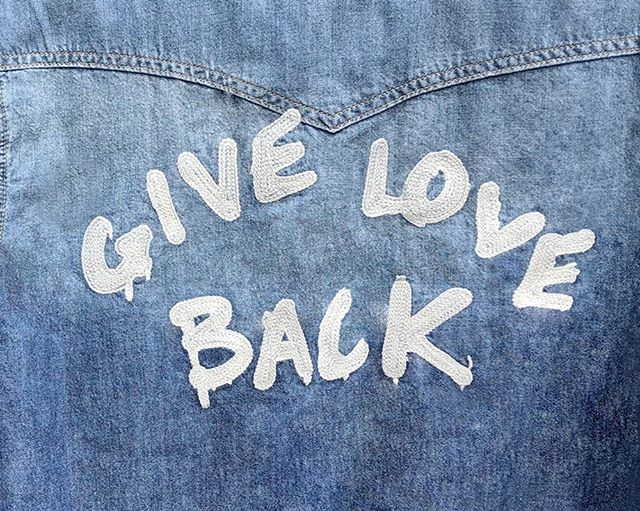 We love when fashion tells a story… even if it's just a sentence. Giving love back with this Sandrine Rose jacket. ❤️