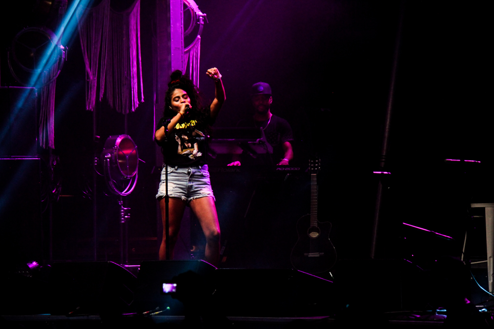 Jessie Reyez performs at the All Things Go Fall Classic 2018
