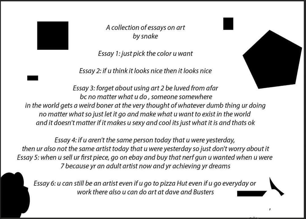 What Is The Thesis Of A Research Essay Heres My Collection Of Essays About Art That I Made For My Facebook Page  For My Drawings The Page Is Called Draw  With Snake Just Type It Into  Google  Photosynthesis Essay also English Essay Samples Snakeskin Sheds Her Former Life On Debut Lp  Audia English Essay Topics