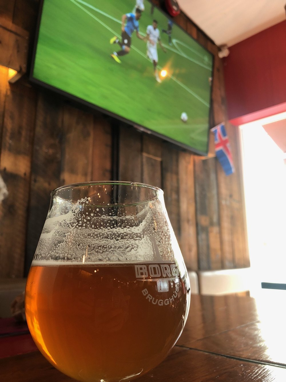 Watch World Cup game over an Icelandic IPA.