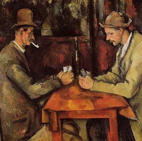 "Paul Cezanne, ""The Card Players"", oil on canvas, 1894-5"