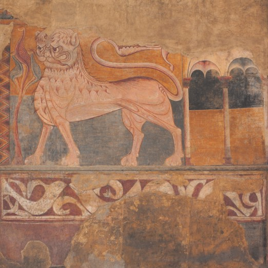 With another nor'easter tomorrow march is certainly coming in like a lion. ------ Burgos, Spain, after 1200, Fresco mounted on canvas
