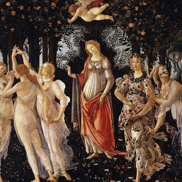 "Spring, finally! ---- Sandro Botticelli, ""La Primavera"", tempera on panel"