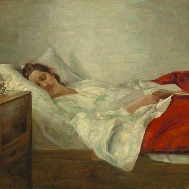 "Monday morning vibes. Carl Vilhelm Holsoe, ""Sleeping Woman"", oil on canvas.  #mondaymood #arthistory #artoftheday #art #painting #danishart #fineart #historyofart"