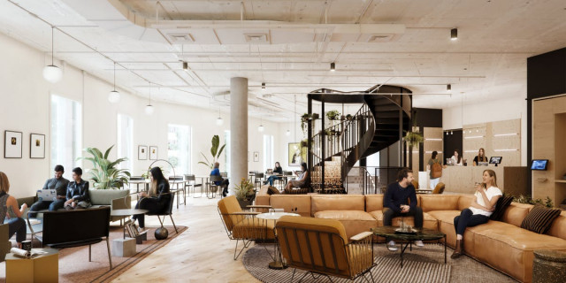 WeWork's co-working space on Madrid's Castellana. Photo: WeWork